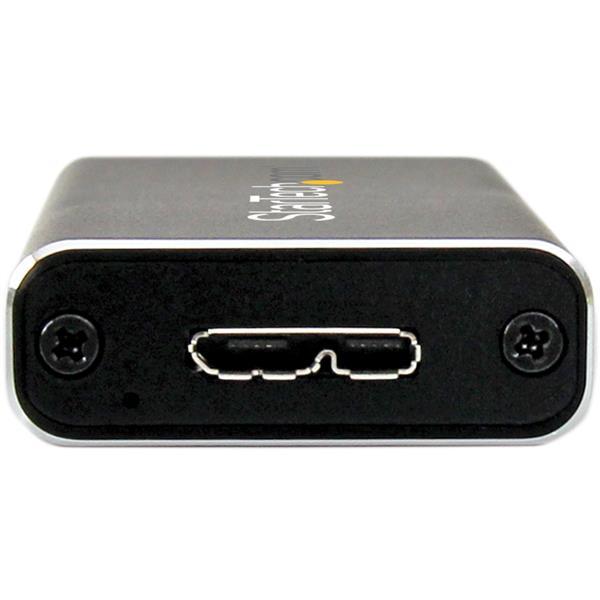 SM2NGFFMBU33 StarTech.com M.2 SDD Enclosure for M.2 SATA SSDs Aluminum External M.2 SSD Enclosure USB 3.0 with UASP 5Gbps