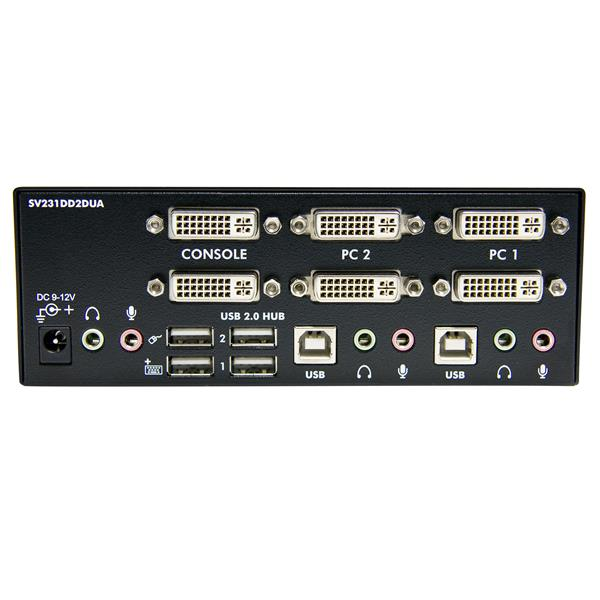Thumbnail 3 For 2 Port Dual DVI USB KVM Switch With Audio 20 Hub