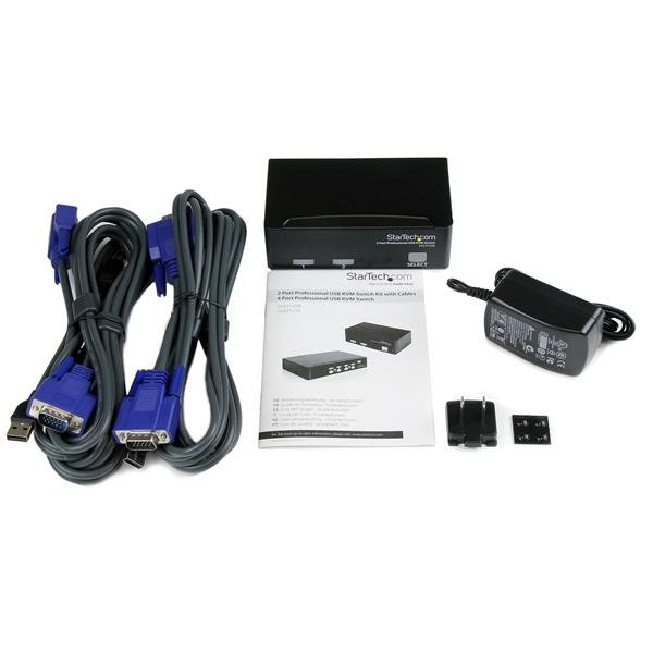 Thumbnail 4 For 2 Port Professional USB KVM Switch Kit With Cables