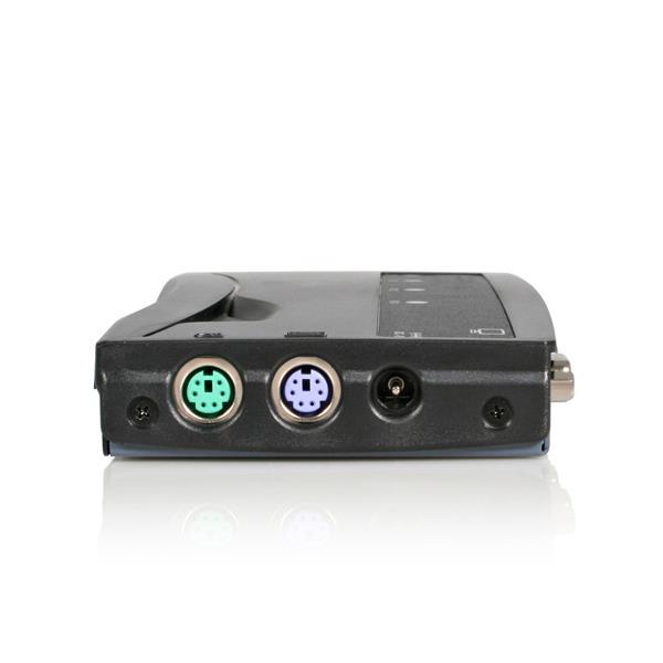 StarTech.com 4 Port Black PS//2 KVM Switch Kit with Cables