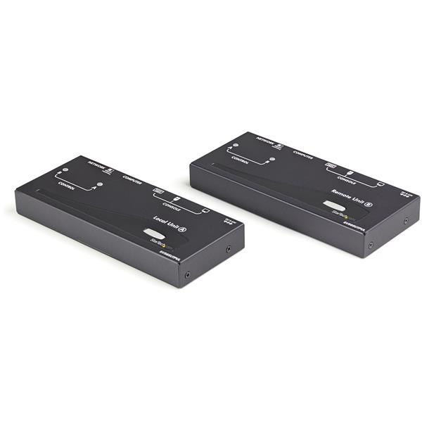 STARTECH.COM Extender Console KVM DVI USB con Connessione Seriale e Audio Via Fibra MM 2km