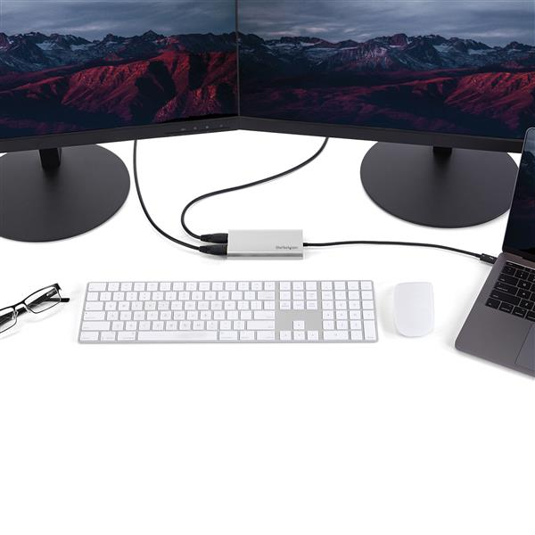 Dual Monitor 4K HDMI Video MacBook Pro and Windows Compatible StarTech.com TB32HD24K60 4K 60 Hz Thunderbolt 3 to Dual HDMI 2.0 Display Adapter