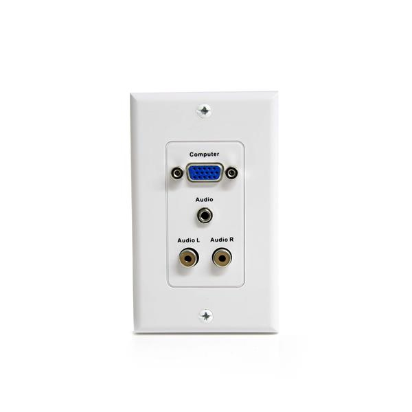 Vga Wall Plate With 3 5mm And Rca Audio Startech Com