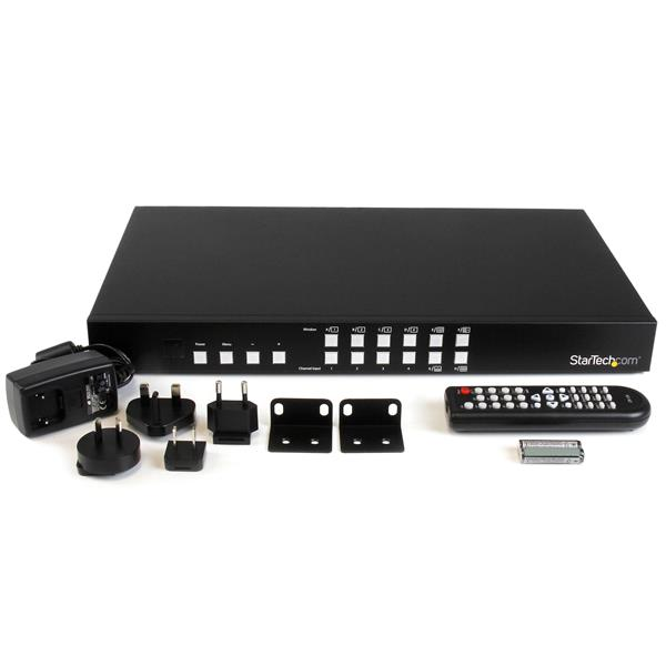 4-Port HDMI Switch with Picture-and-Picture Multiviewer