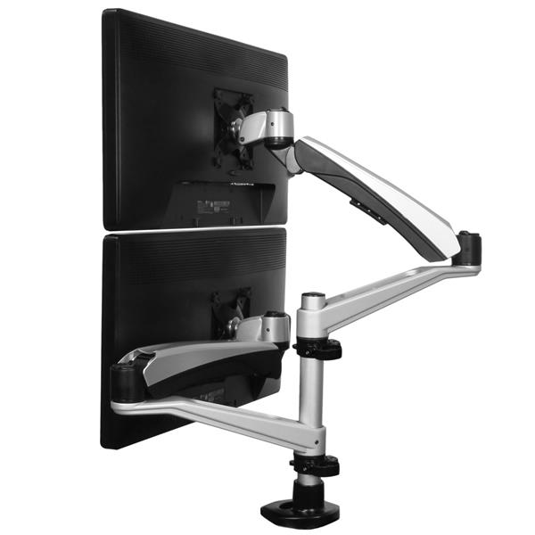 Dual Monitor Mount With Articulating Arms Display