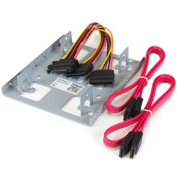Dual Hard Drive Mounting Bracket Kit Hdd Adapters