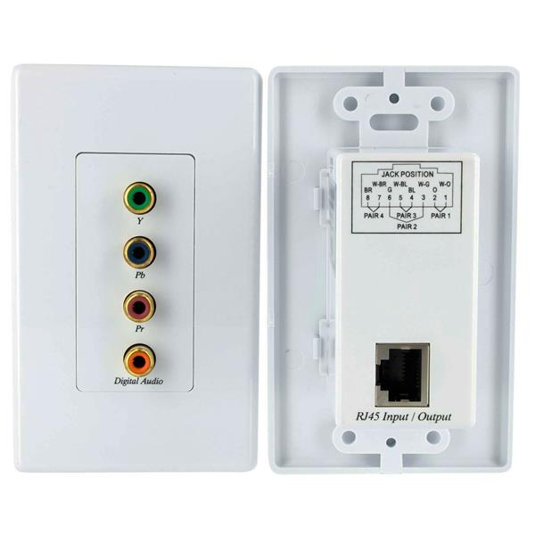 Component Video And Audio Extender Wall Plate Kit