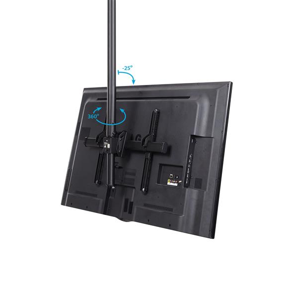 The hook and mount design of the TV ceiling mount ensures fast and easy setup