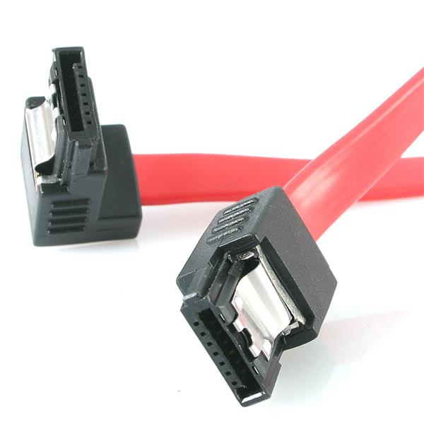 12in Latching Sata To Right Angle Sata Cable Angled Sata