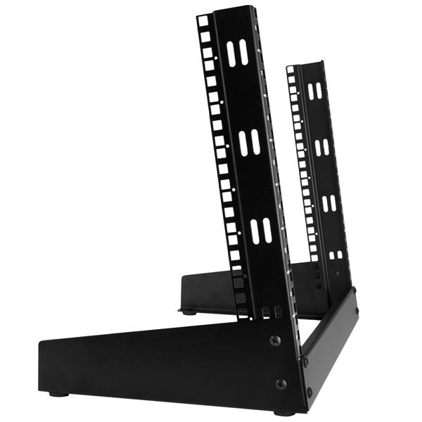 8u desktop rack 2 post open frame rack startech 89596