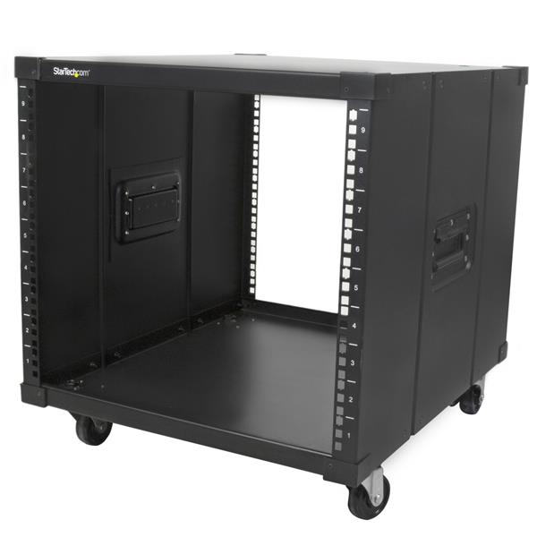 Portable Server Rack With Handles Rolling Cabinet 9u