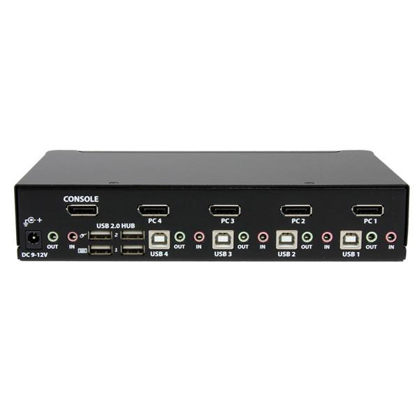 Displayport Kvm Switch 4 Port With Usb Peripheral