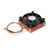 1U 60x10mm Socket 7/370 CPU Cooler Fan w/ Copper Heatsink & TX3