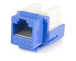 Cat5e RJ45 Keystone Jack Blue - 110 Type