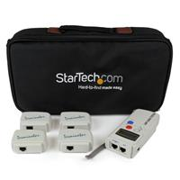 Professional RJ45 Network Cable Tester with 4 Remote Loopback Plugs