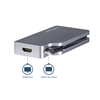 Thumbnail 4 for Adaptateur multiport USB-C - Gris sidéral - 4-en-1 USB-C vers VGA, DVI, HDMI, ou Mini DisplayPort