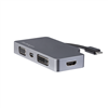 USB-C 4-in-1 video adapter - USB-C naar VGA, DVI, HDMI of mDP  - 4K - space gray grijs
