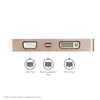Thumbnail 3 for USB C Multiport Video Adapter with HDMI, VGA, Mini DisplayPort or DVI - USB Type C Monitor Adapter to HDMI 1.4 or mDP 1.2 (4K) - VGA or DVI (1080p) - Rose Gold Aluminum