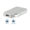 Thumbnail 4 for 4-in-1 USB-C Multiport Video Adapter - Aluminum - 4K 30Hz - Silver