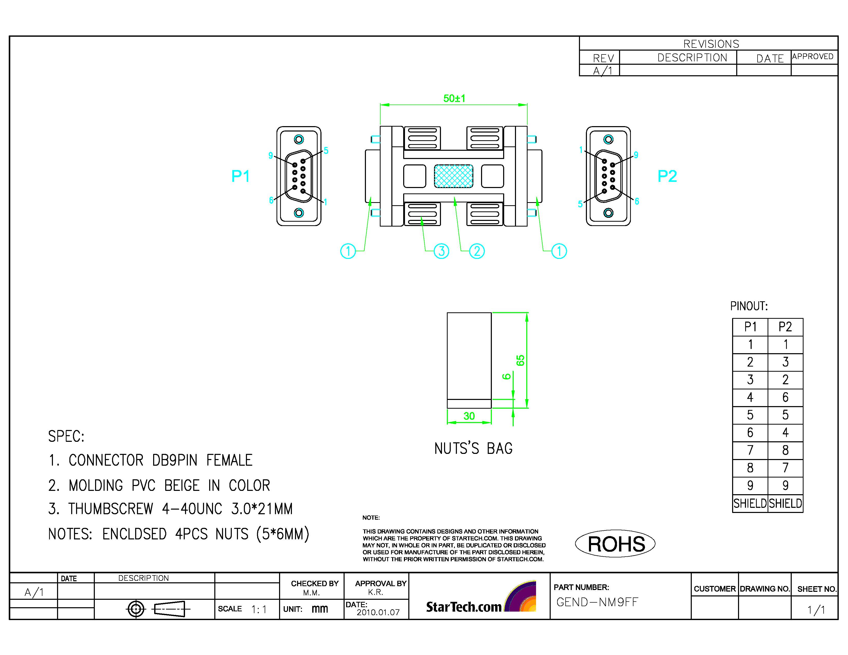Rs232 Pin Diagram Pdf Schematics Wiring Diagrams Null Modem Adapter 2x Db9 Female Startech Com