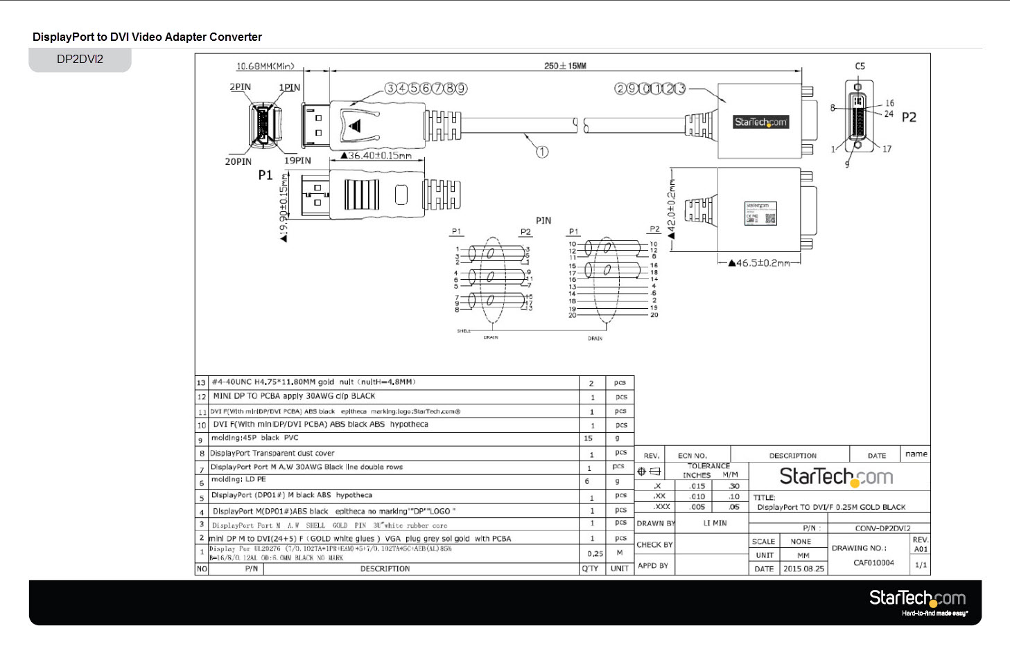 wiring diagram dvi to vga adapter hdmi cable schematic displayport to dvi-d wiring diagram DVI Wires Colors